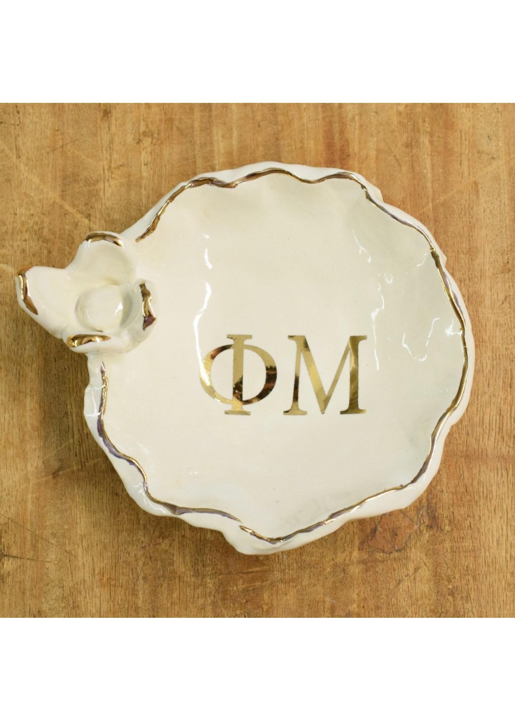 dixie pottery Sorority Ring Dish