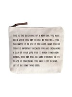 Sugarboo Canvas Zip Pouch - This is the Beginning