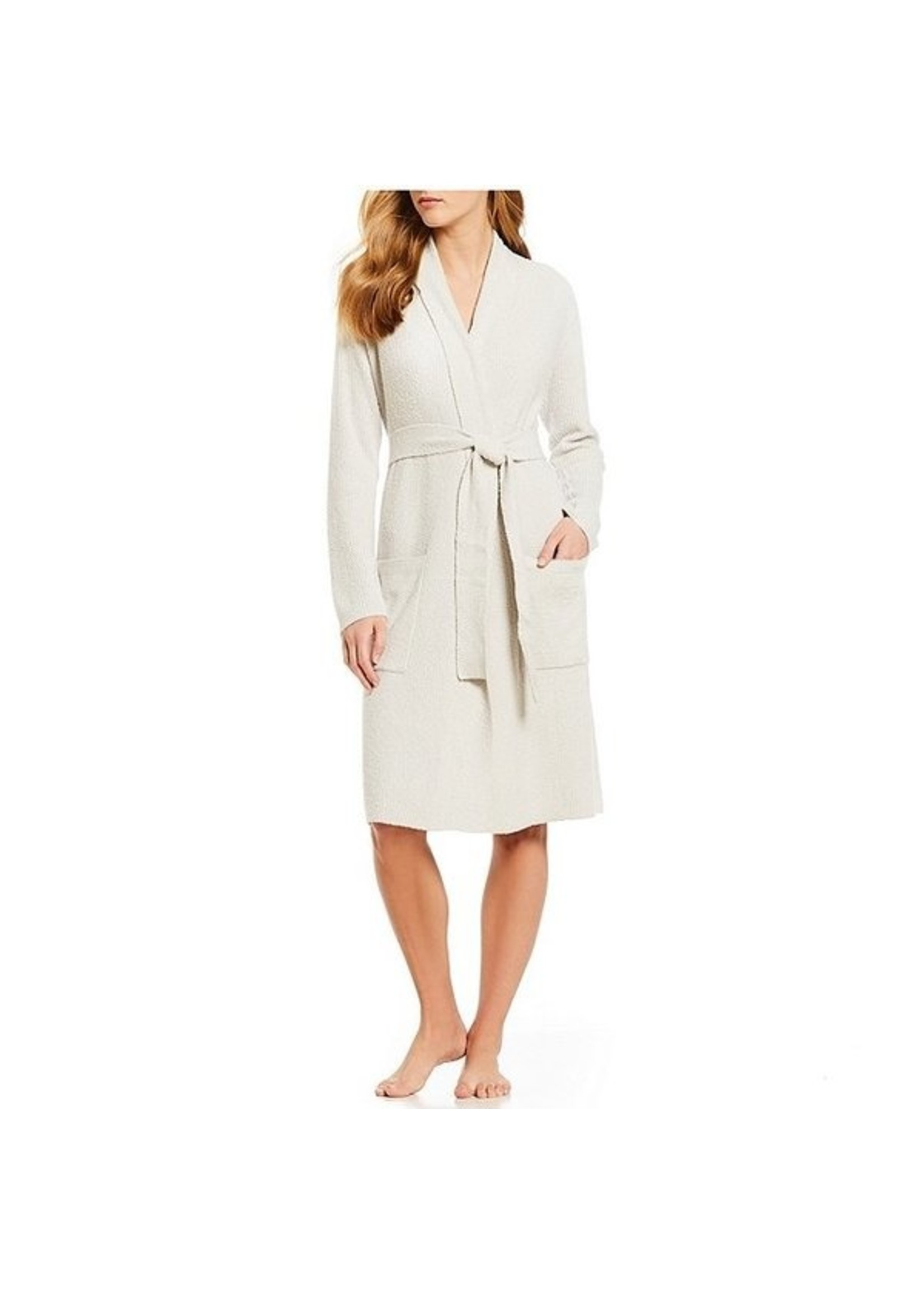 Barefoot Dreams CozyChic Lite Ribbed Robe Silver/Pearl