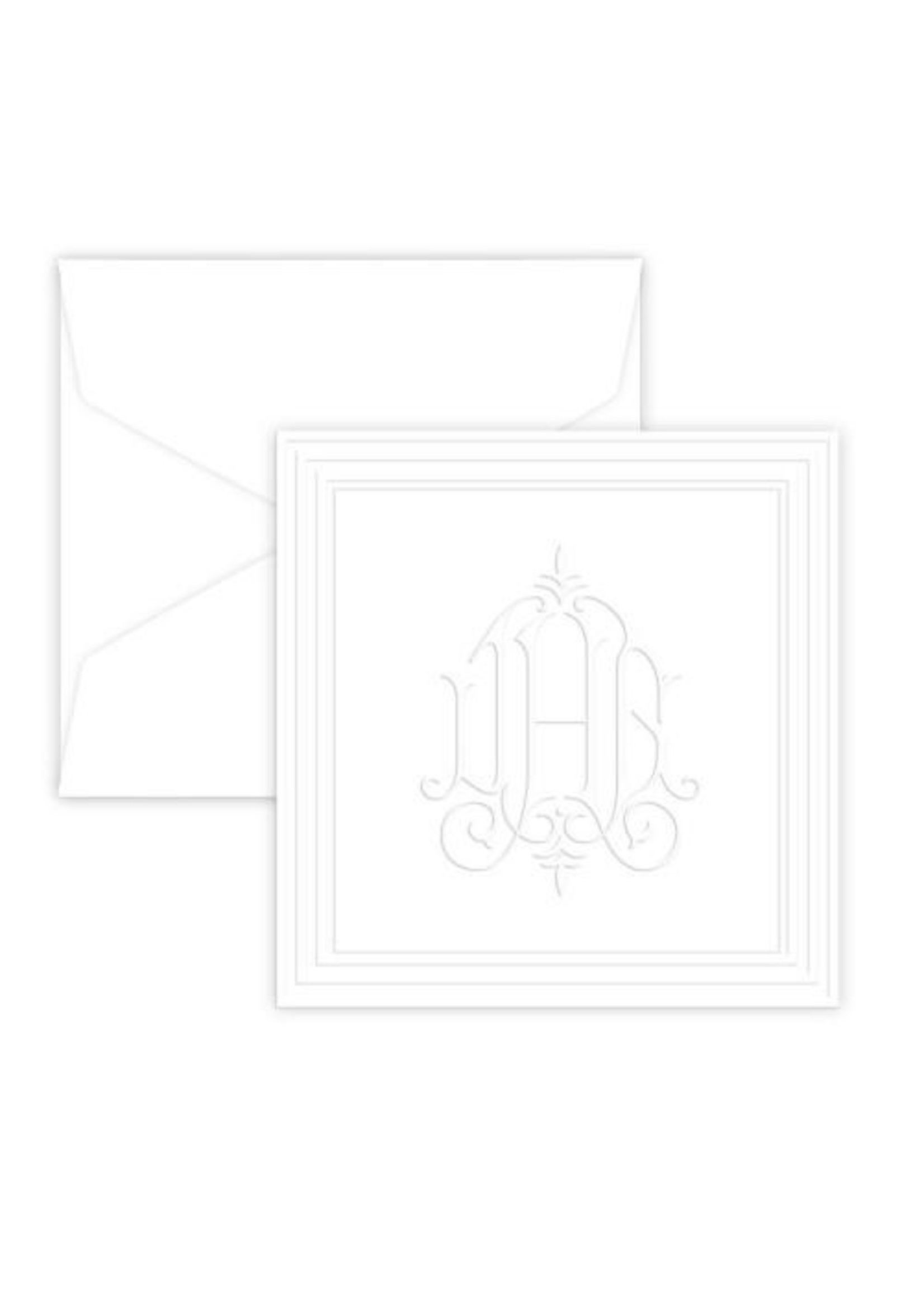 Embossed Graphics Henley Monogram Enclosure Cards QTY 50