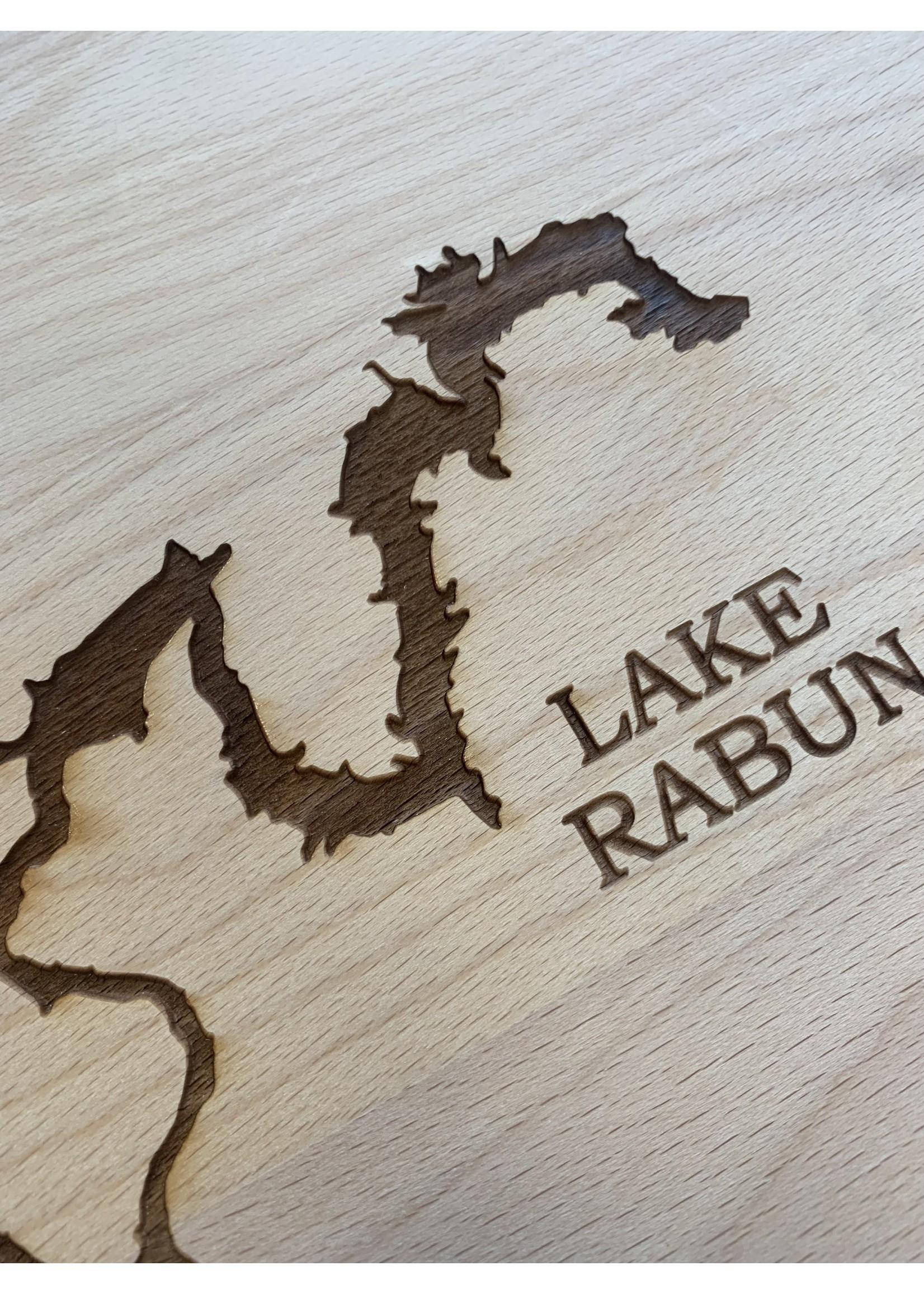 birch and boulder Lake Rabun Wood Board