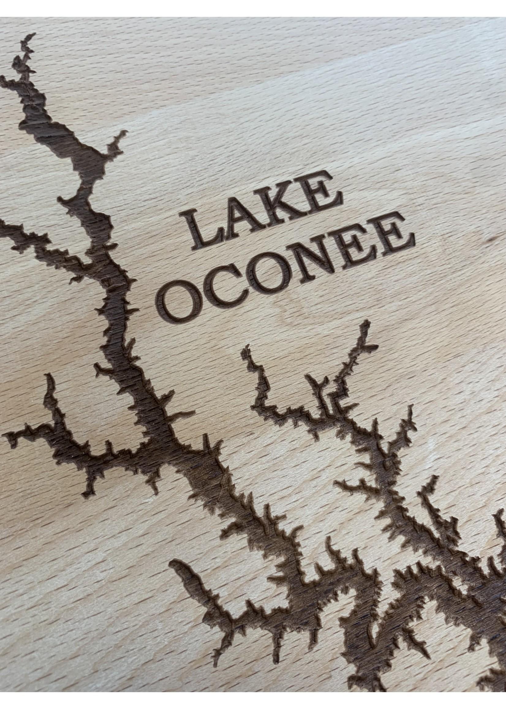 birch and boulder Lake Oconee Wood Board
