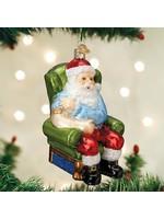 Old World Christmas Vaccine Santa Ornament
