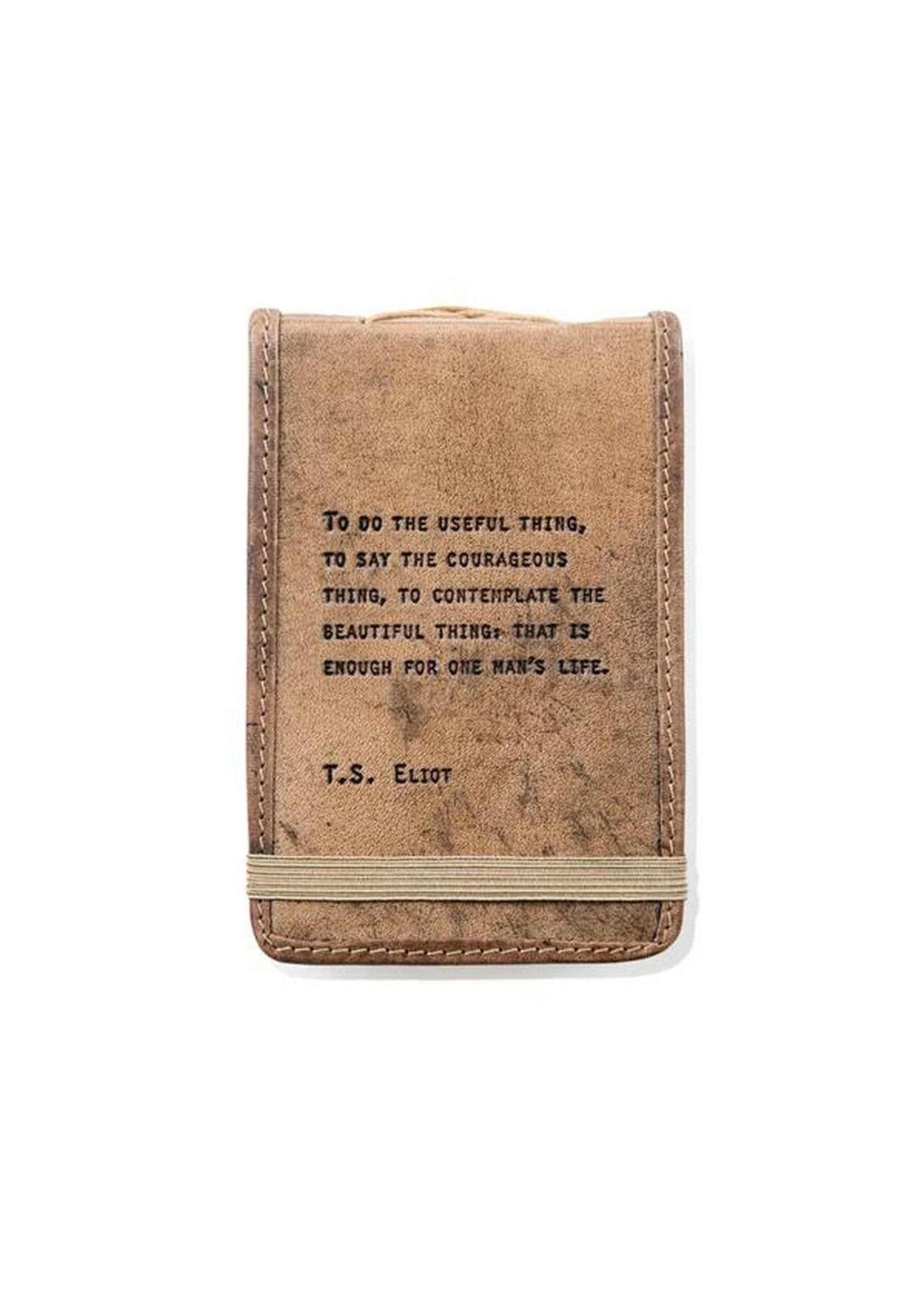 Sugarboo Mini Leather Journal - TS Elliot (4x6)