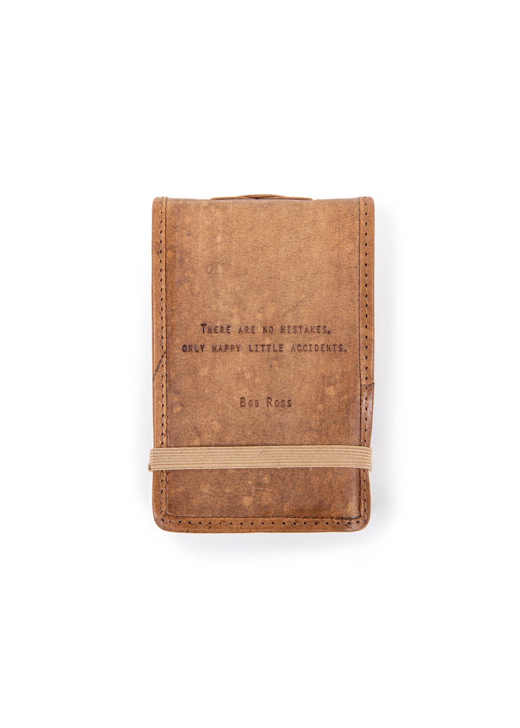 Sugarboo Mini Leather Journal - Bob Ross (4x6)