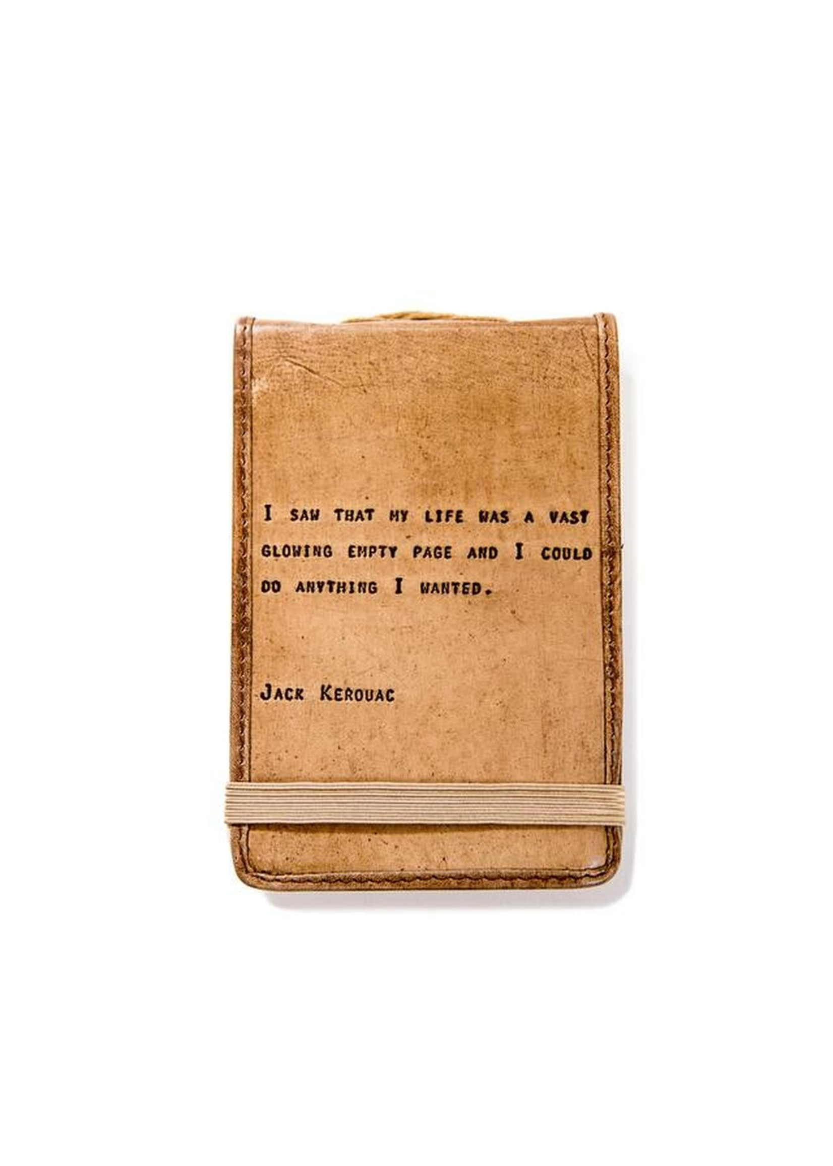 Sugarboo Mini Leather Journal - Jack Kerouac (4x6)