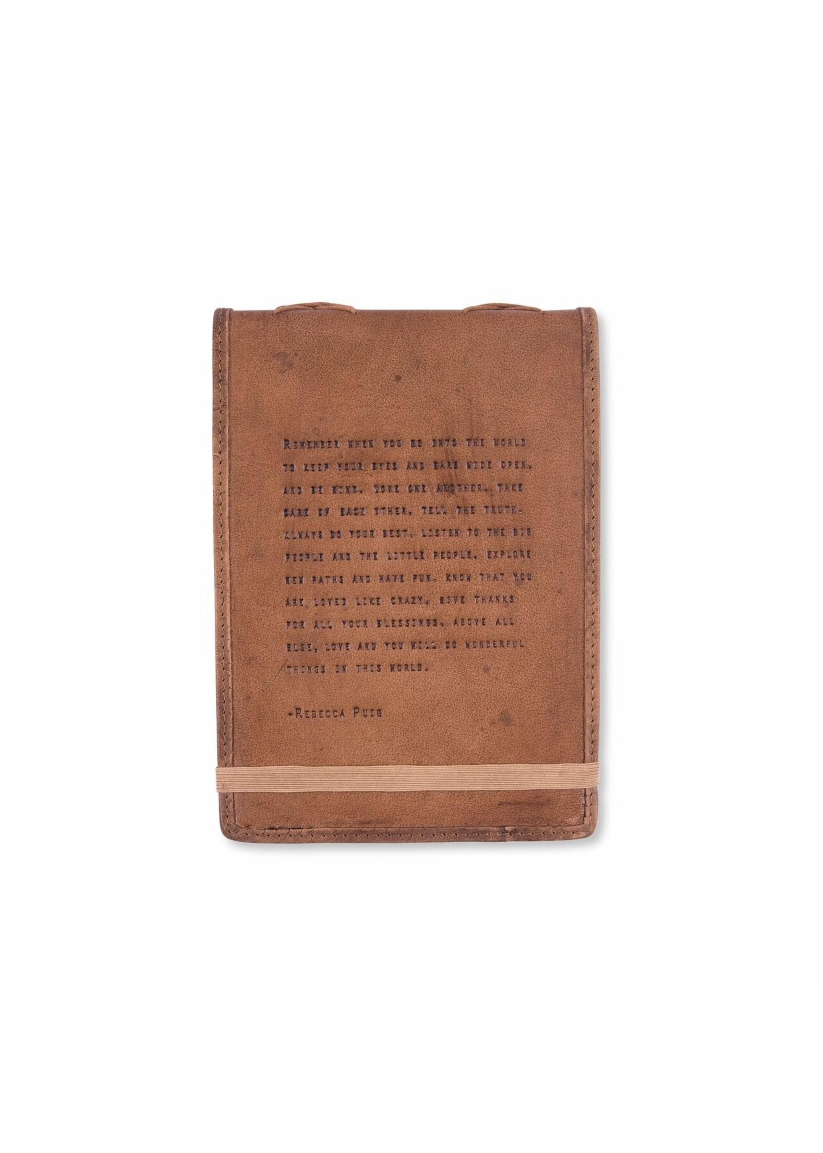 Sugarboo Leather Journal - Rebecca Puig (7x9.75)