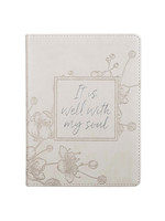 christian arts It Is Well With My Soul Faux Leather Journal