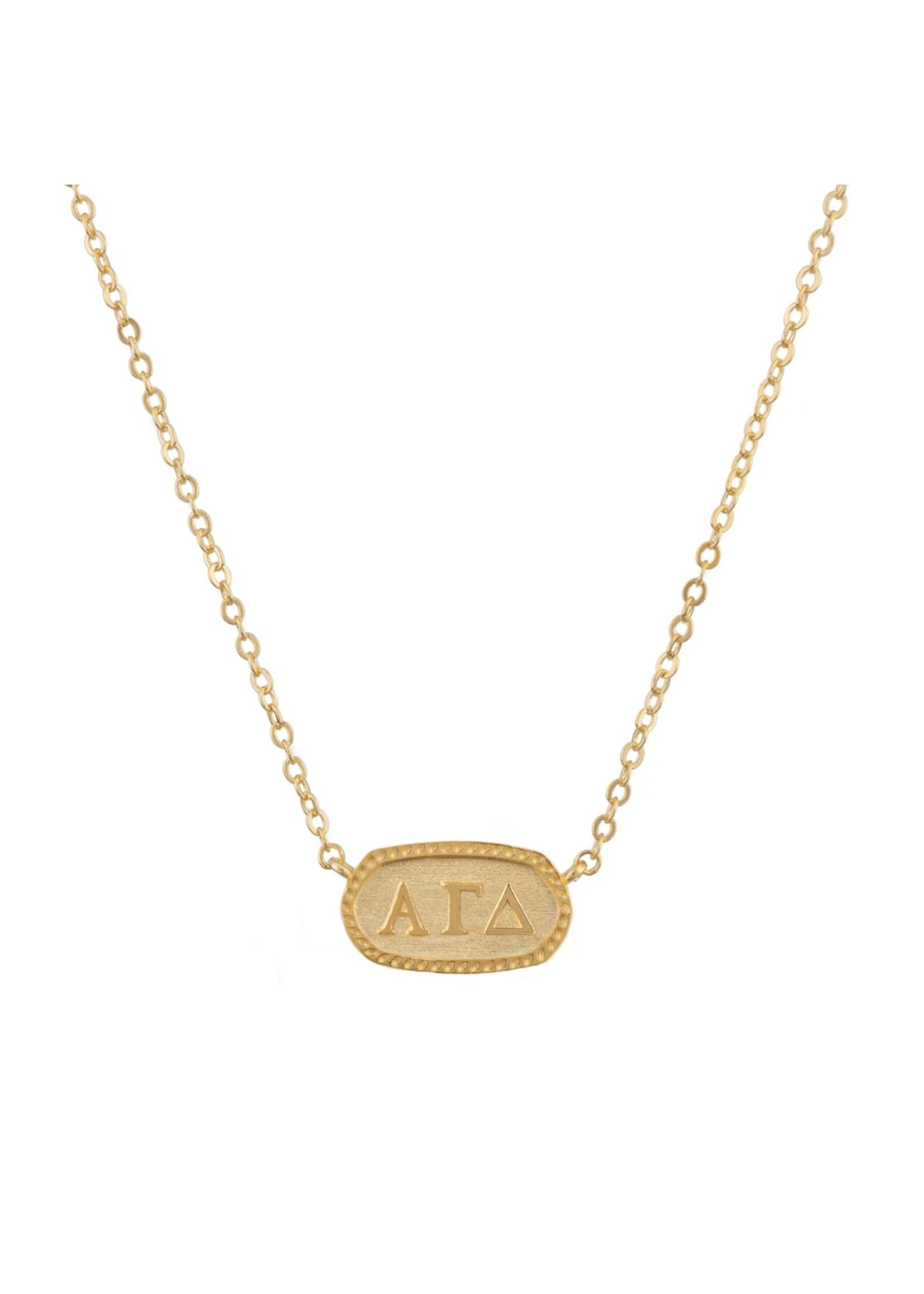 faire Alpha Gamma Delta Sorority Necklace