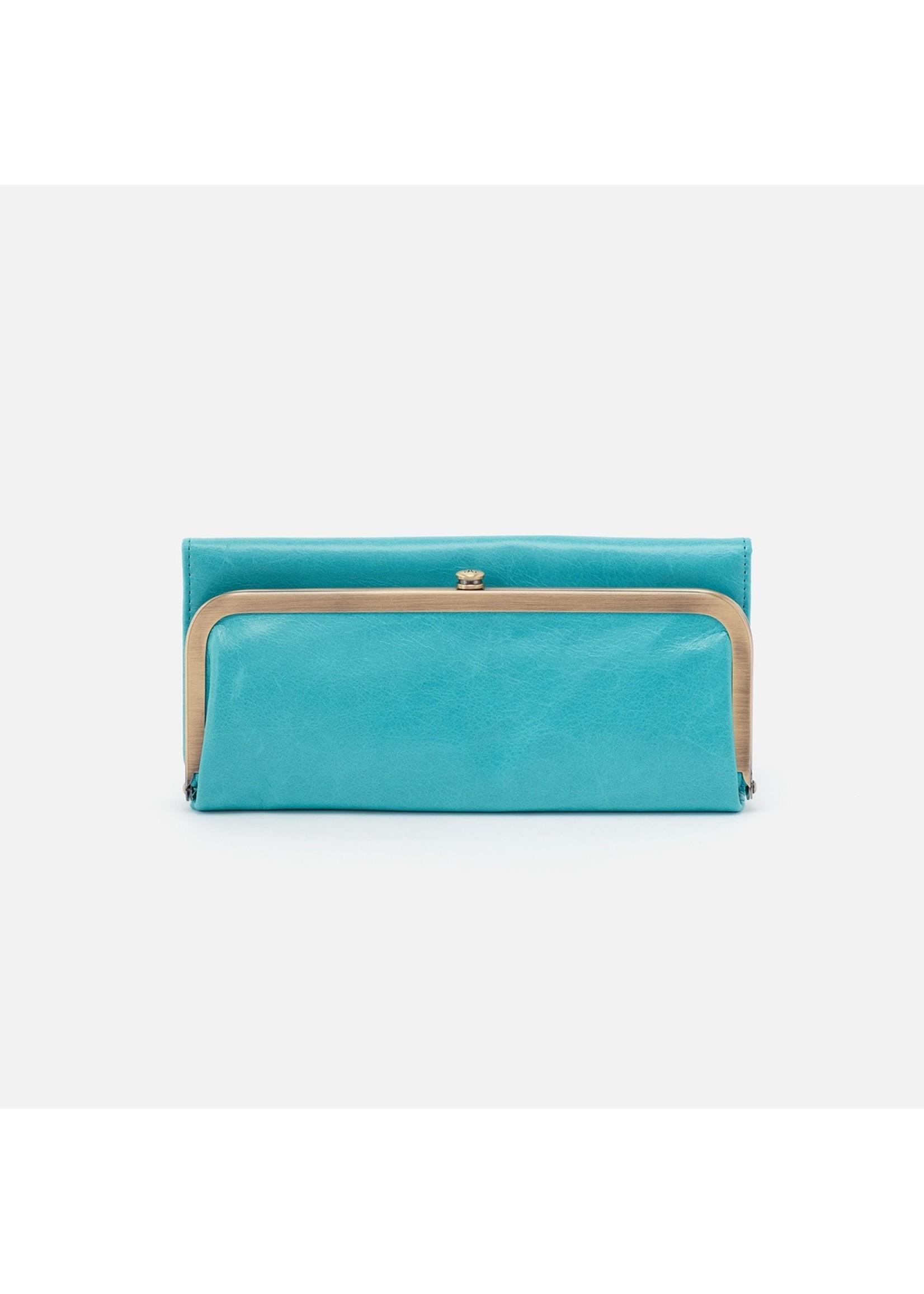 hobo Rachel Continental Wallet - Aqua