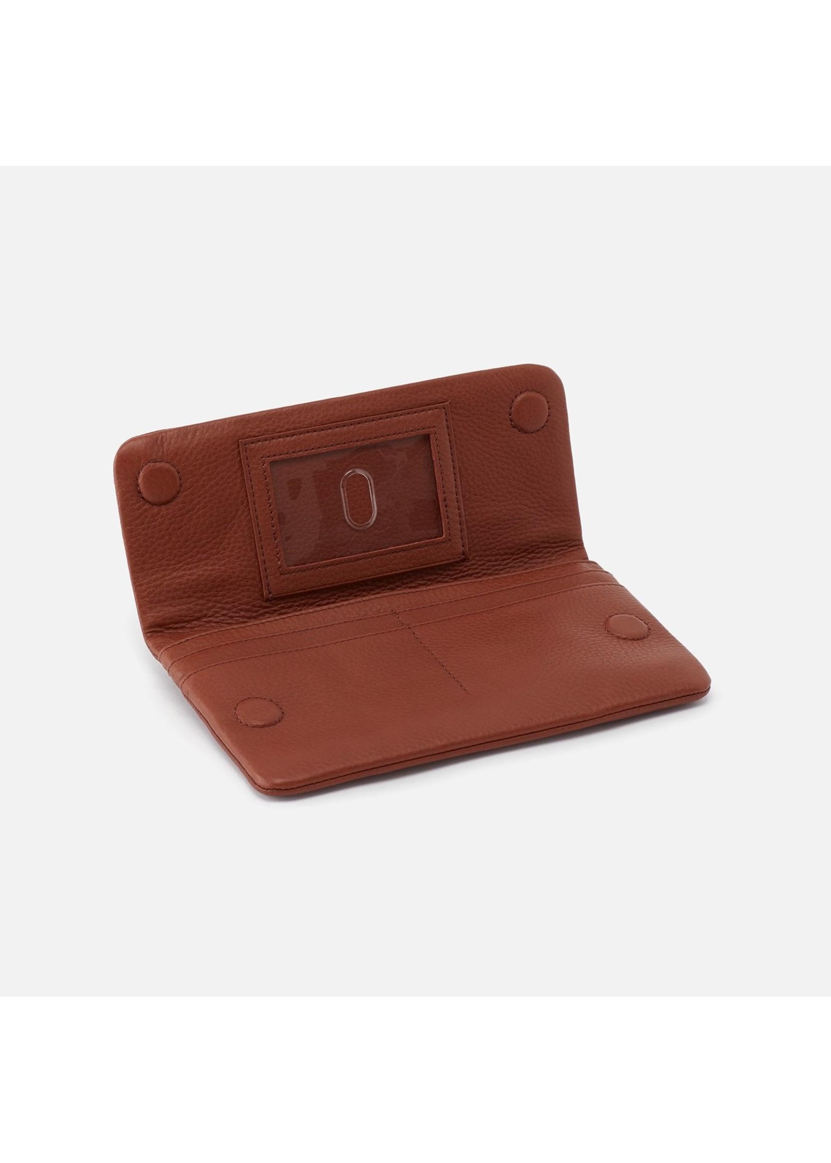 hobo Paca Continental Wallet Velvet Hide - Toffee