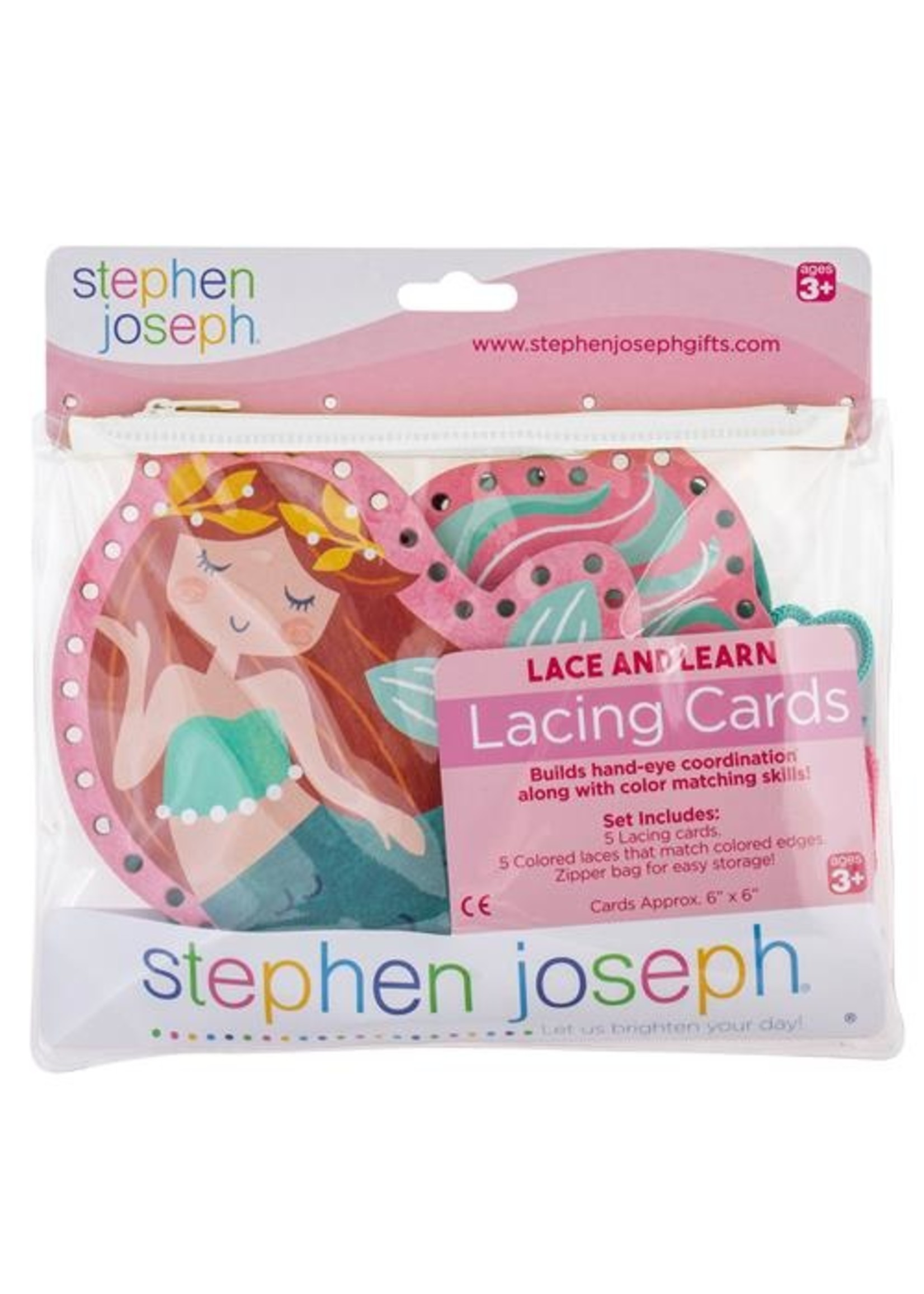 stephen joseph Lacing Cards - Mermaid