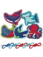 stephen joseph Lacing Cards - Shark