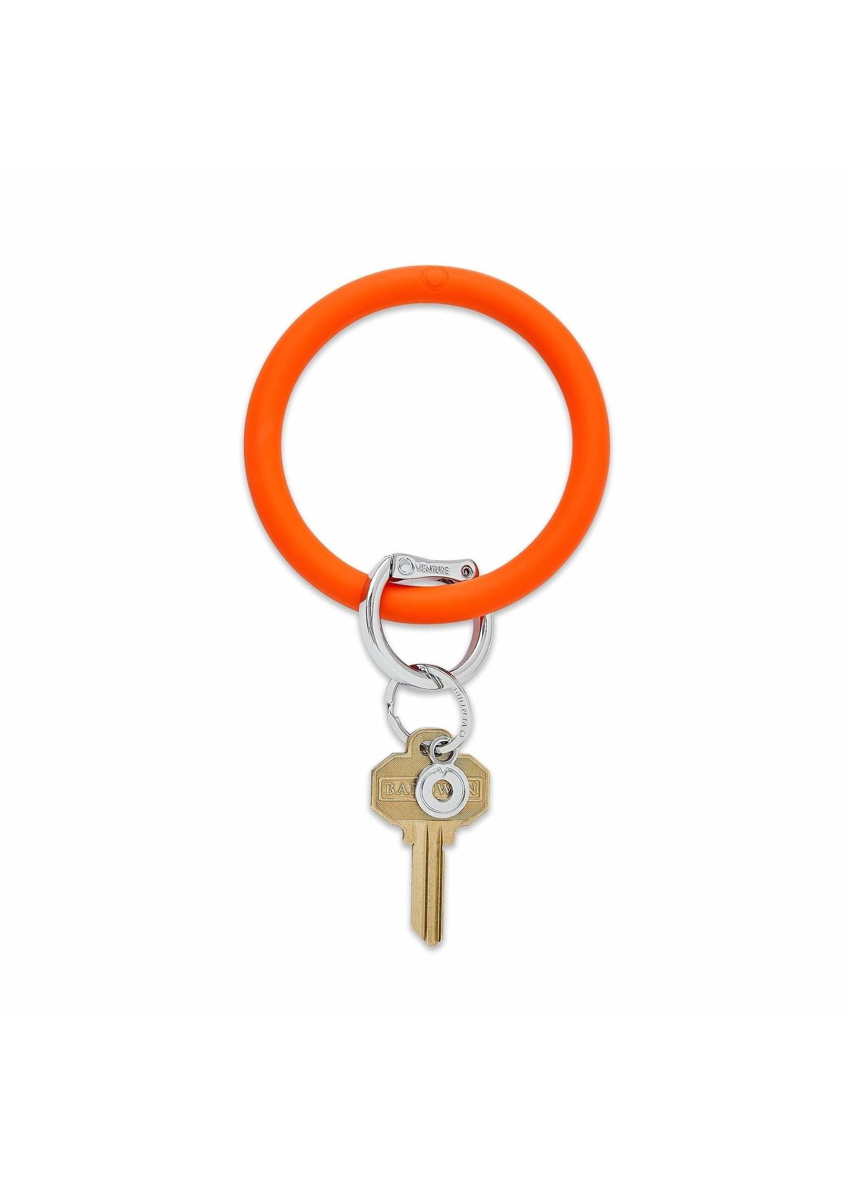 O-venture Silicone Key Ring - Orange Crush