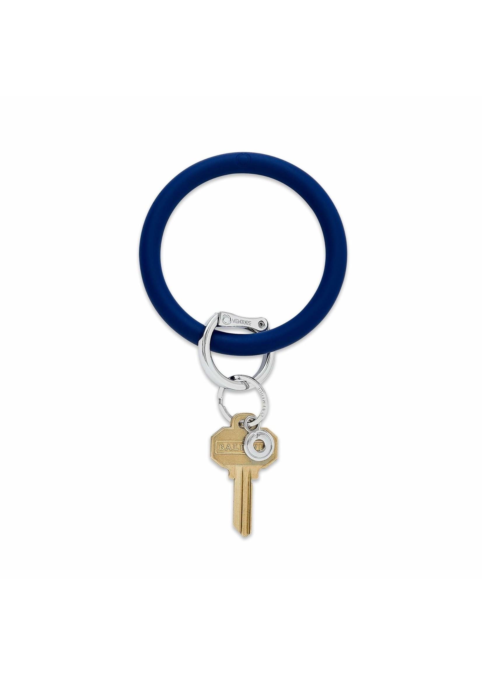 O-venture Silicone Key Ring - Navy