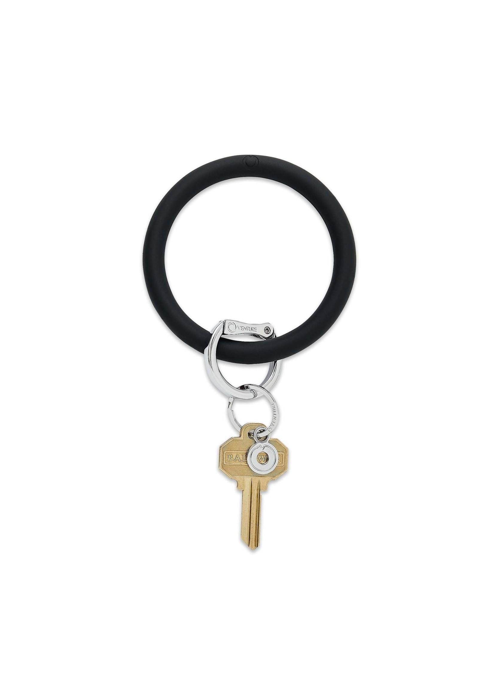 O-venture Silicone Key Ring - Black