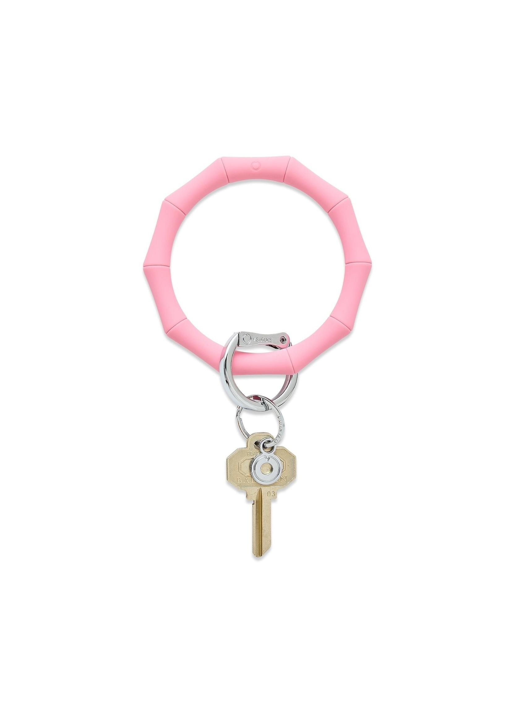 O-venture Silicone Key Ring - Pink Bamboo