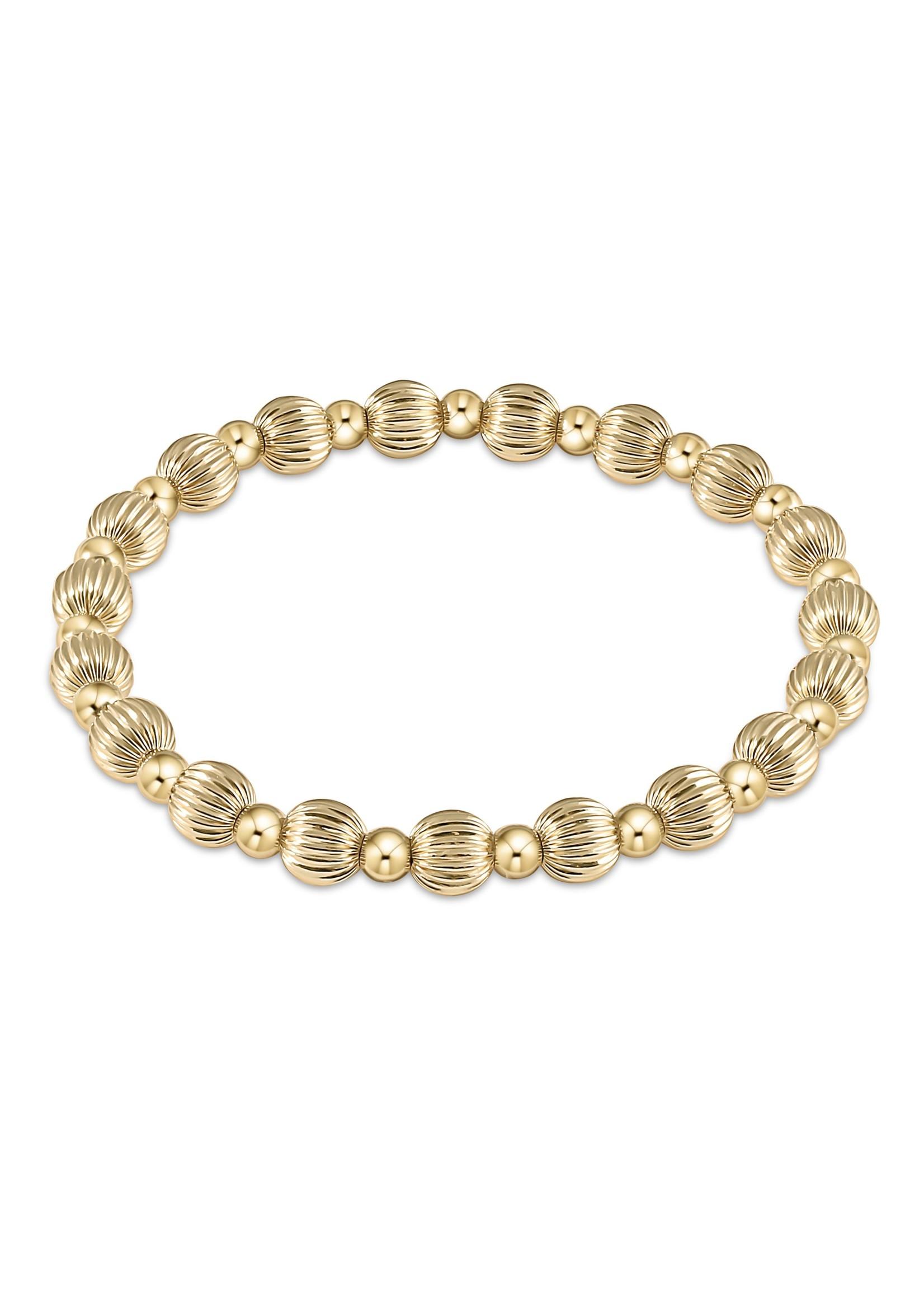 enewton Classic Grateful Pattern 6mm Bead Bracelet - Gold