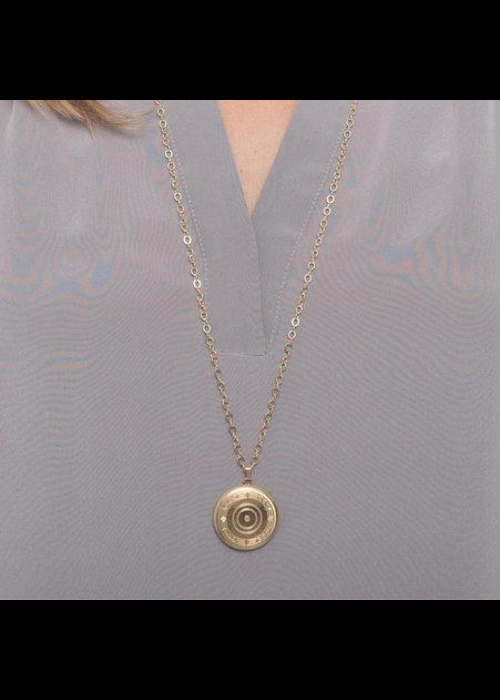 """enewton 31"""" Necklace Gold - Cherish Large Gold Locket"""
