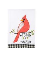 Glory Haus Good Tidings Red Bird Towel