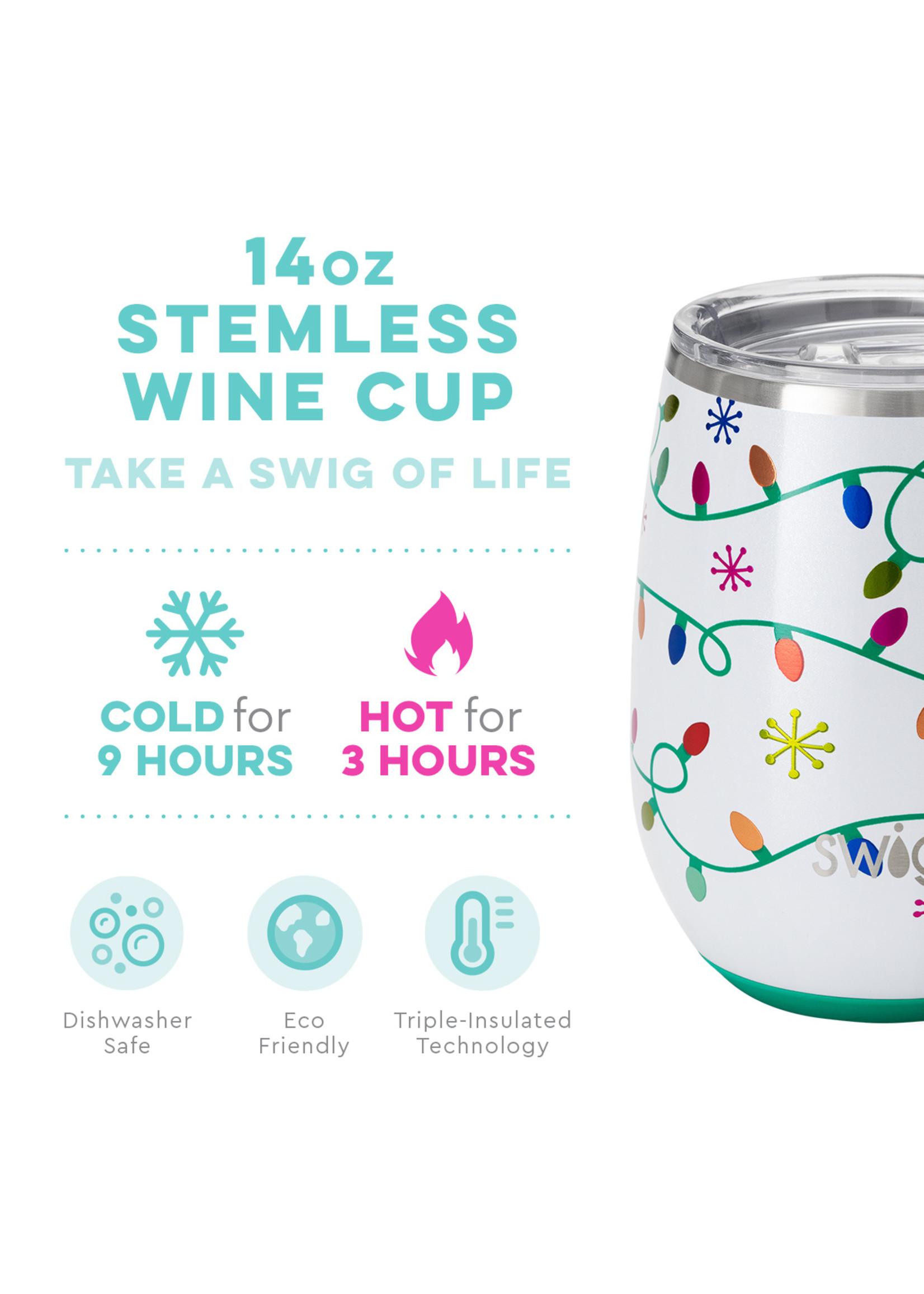 Swig Stemless Wine - Let It Glow