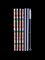 Swig Reusable Straw Set - Sand Art/Hydrangea