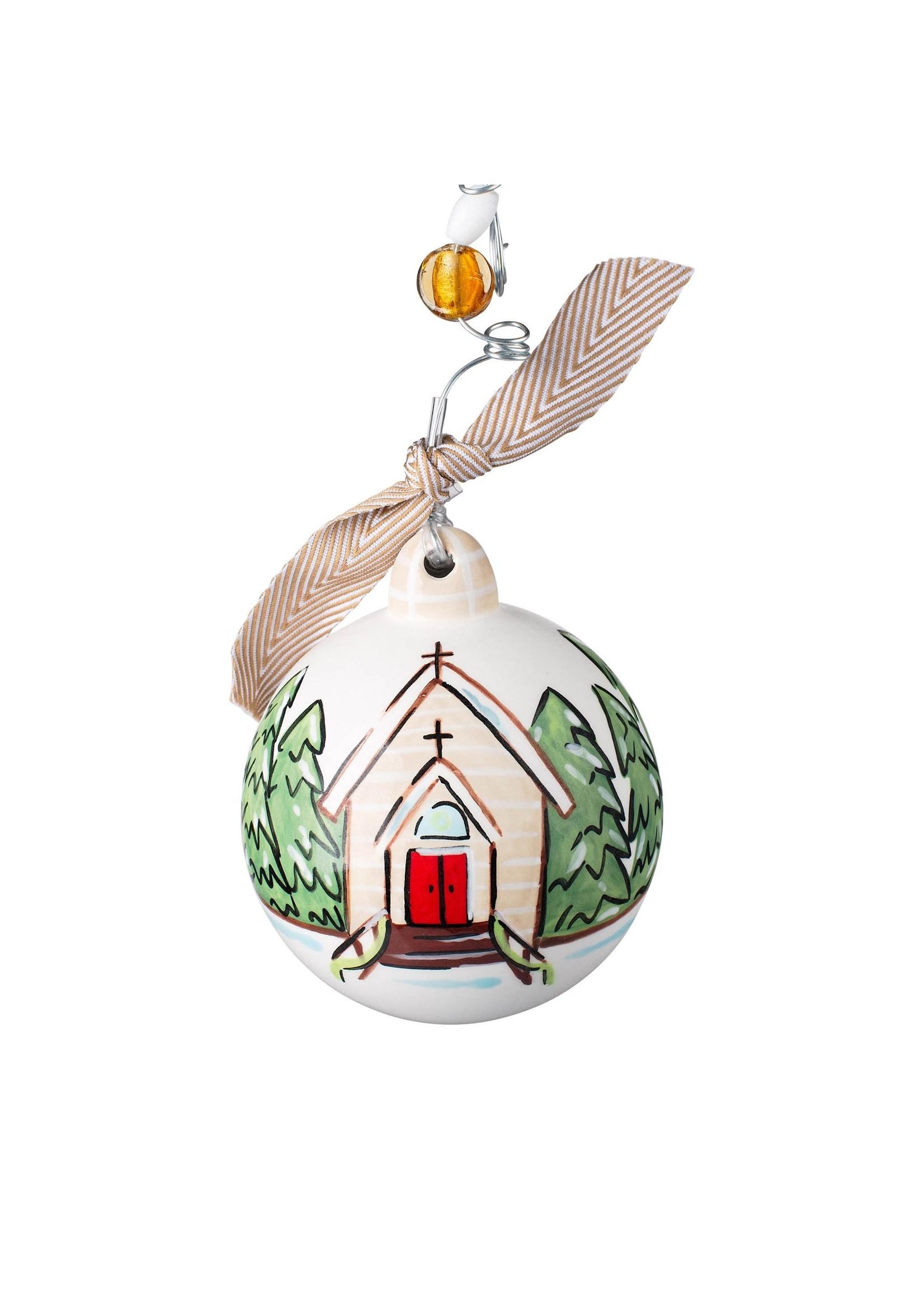 Church Let Us Adore Him Ornament