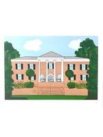 elleB UGA Kappa Delta House Greeting Card