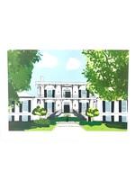 elleB UGA Phi Mu House Greeting Card
