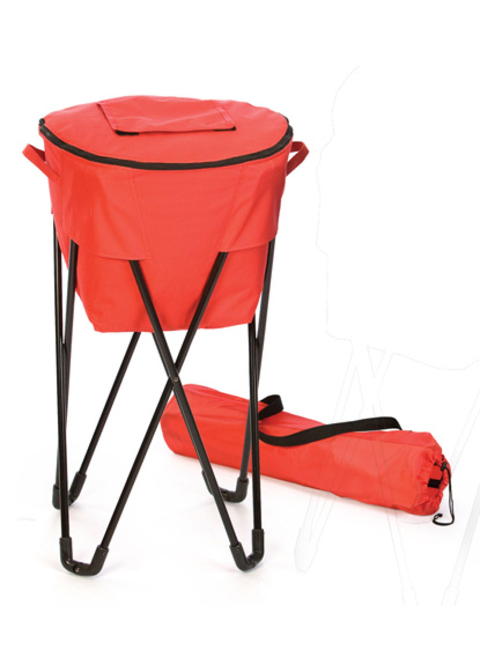 Oak & Olive/Picnic Plus Tub Cooler - Red
