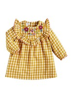 mud pie Gingham Embroidered Dress
