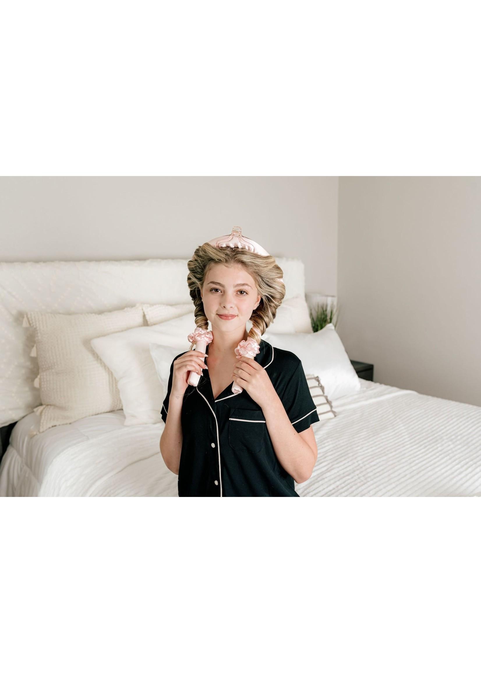 morning glamour Heatless Hair Curler - Pink