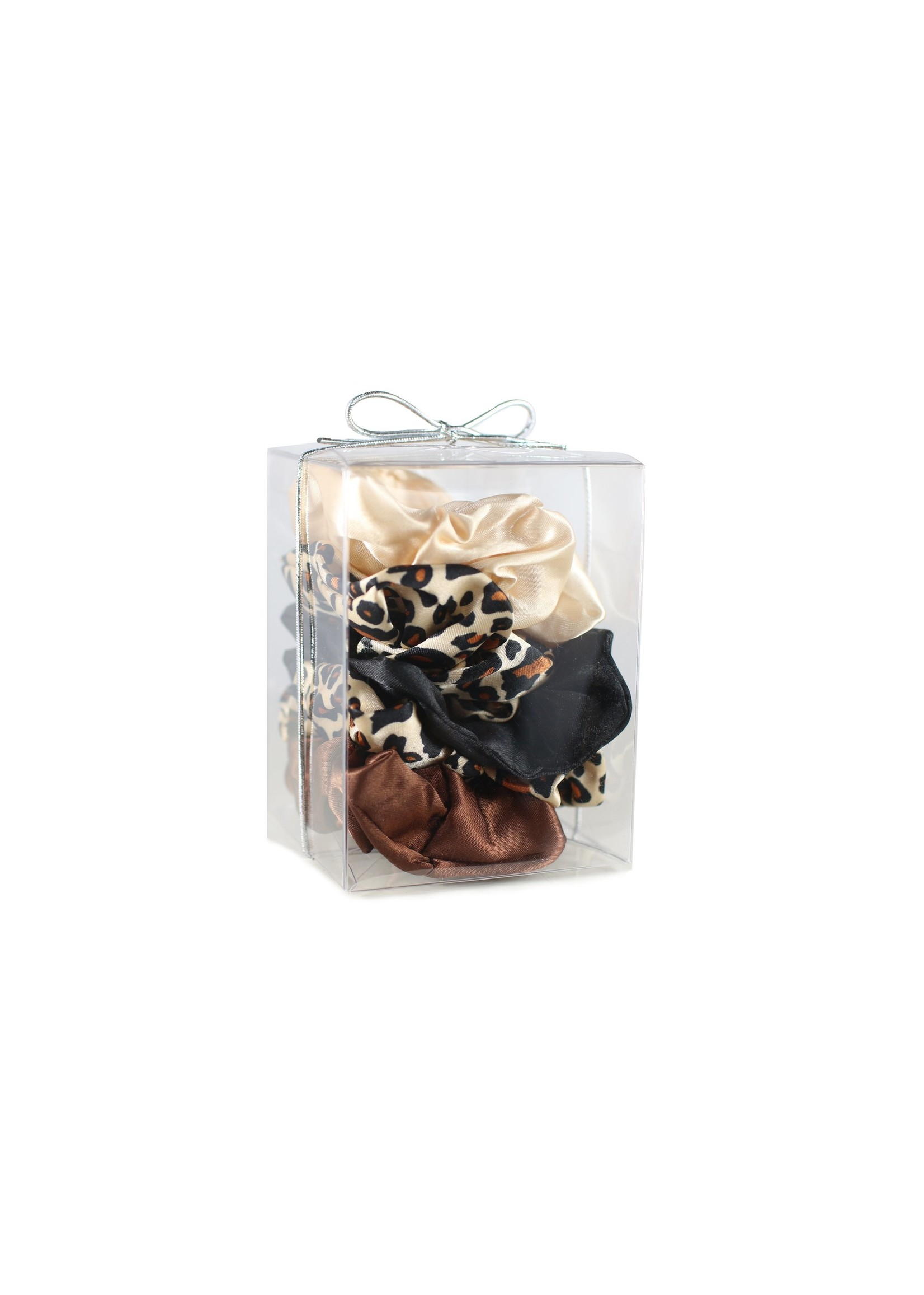 morning glamour Scrunchies set of 5 Leopard/Gold