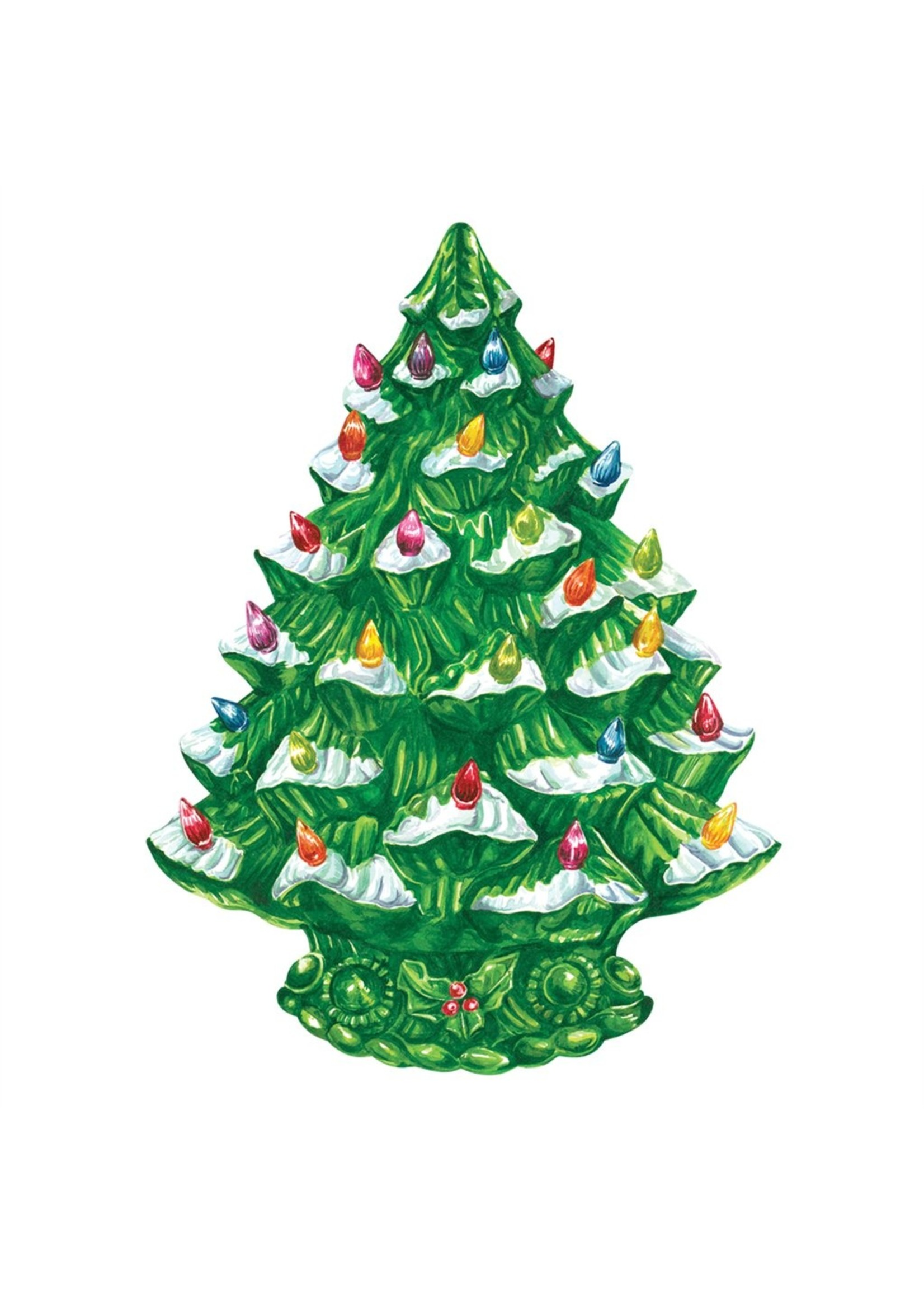 Hester & Cook Die Cut Vintage Christmas Tree Placemats (set of 12)