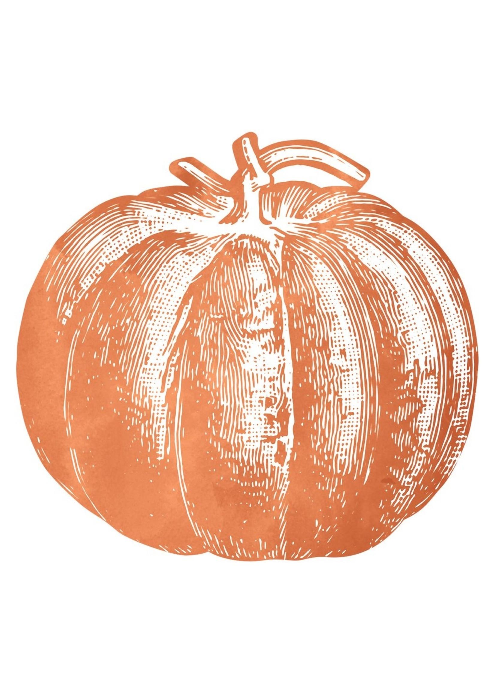 Hester & Cook Die Cut Pumpkin Placemat