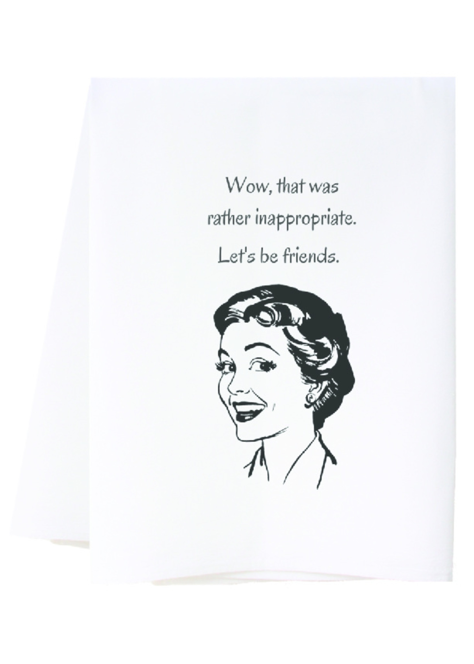southern sisters Linen Towel - Let's Be Friends