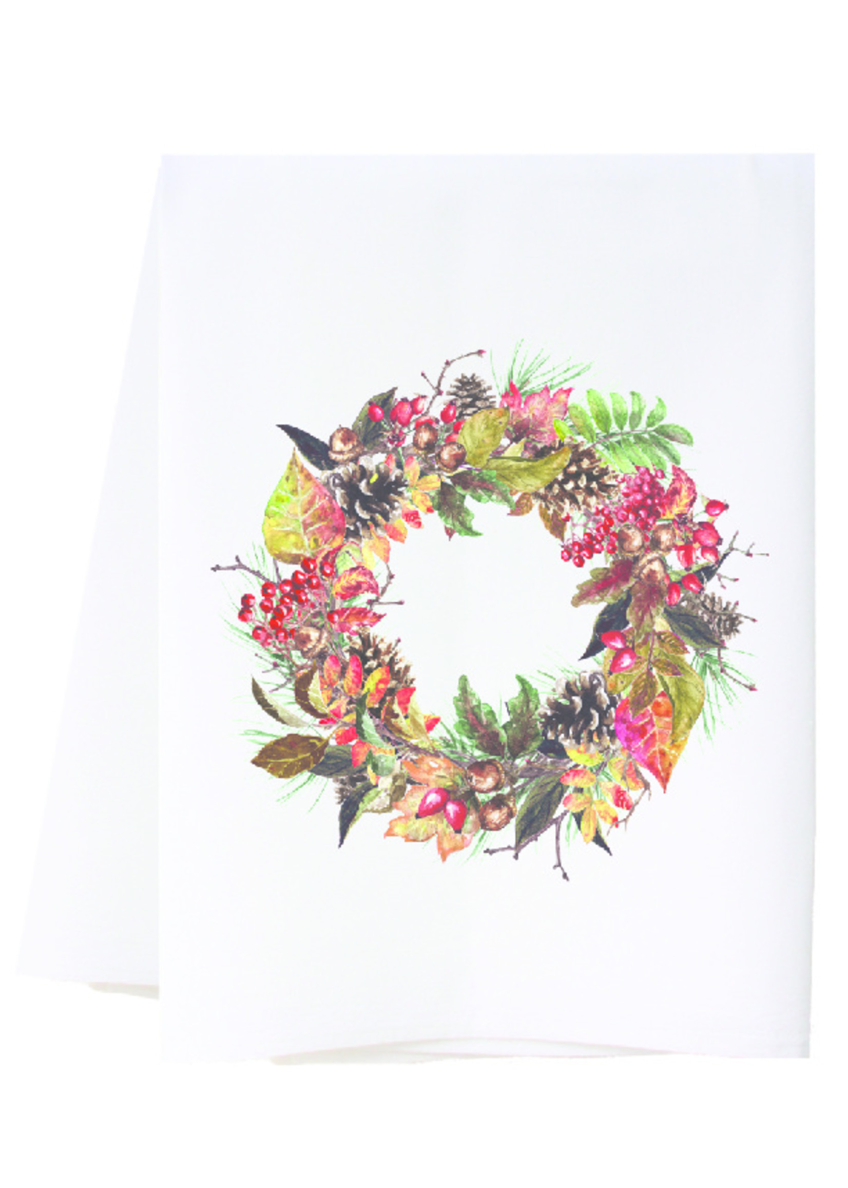 southern sisters Linen Towel - Harvest Wreath