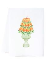 southern sisters Linen Towel - Pumpkin Topiary