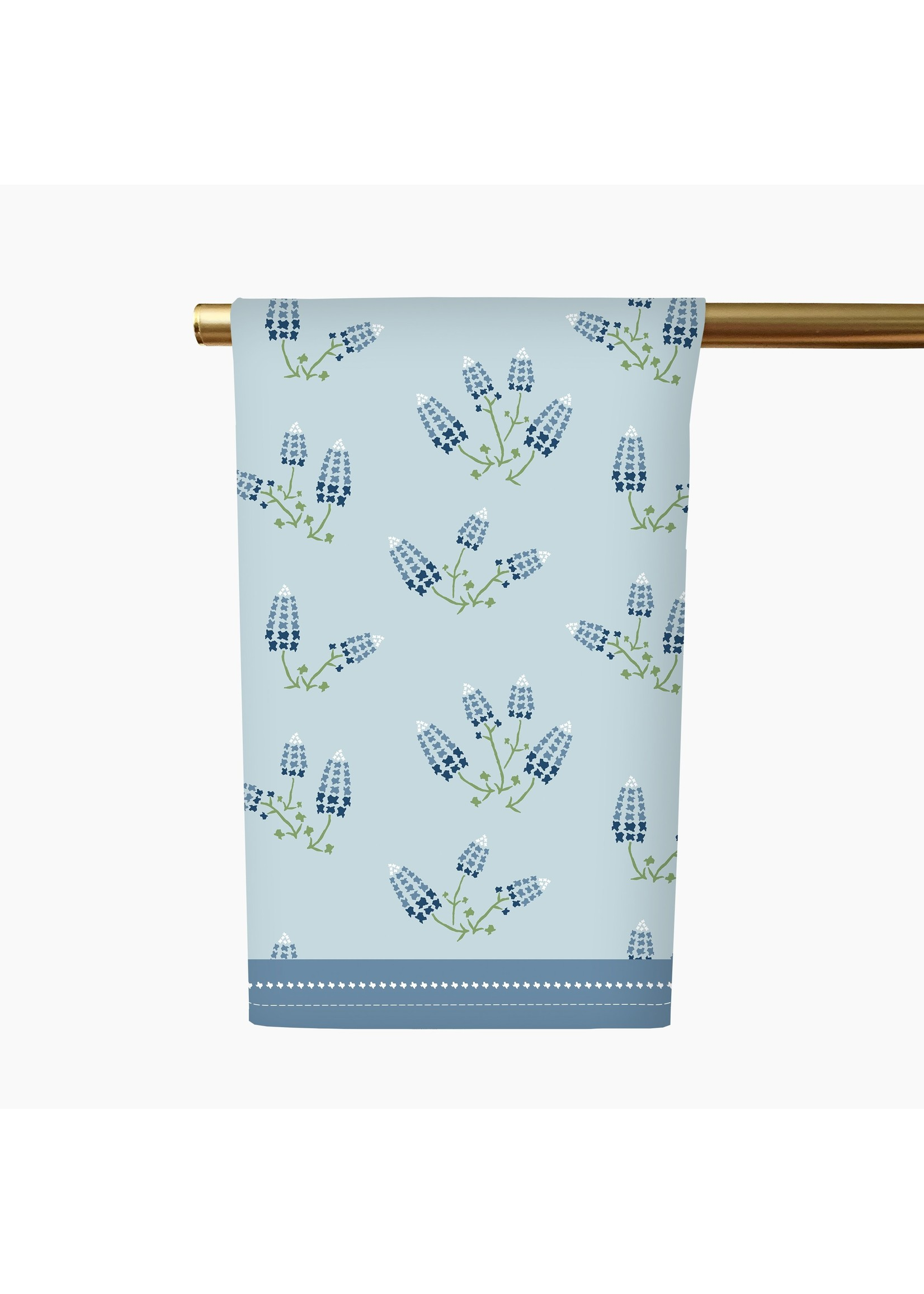 Honey and Hank Texas Bluebonnets Tea Towel