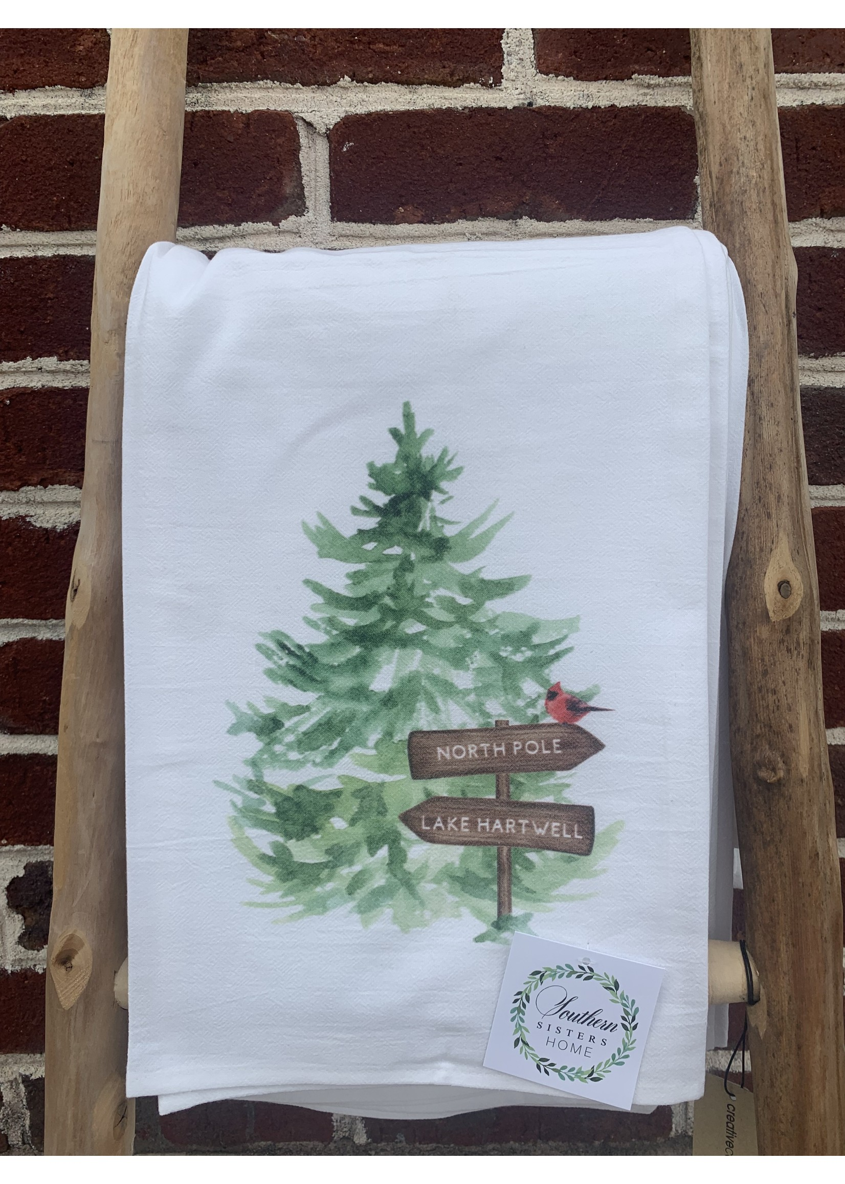 southern sisters Linen Towel - North Pole Lake Hartwell