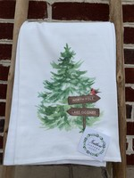 southern sisters Linen Towel - North Pole Lake Oconee