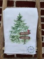 southern sisters Linen Towel - North Pole Lake Lanier