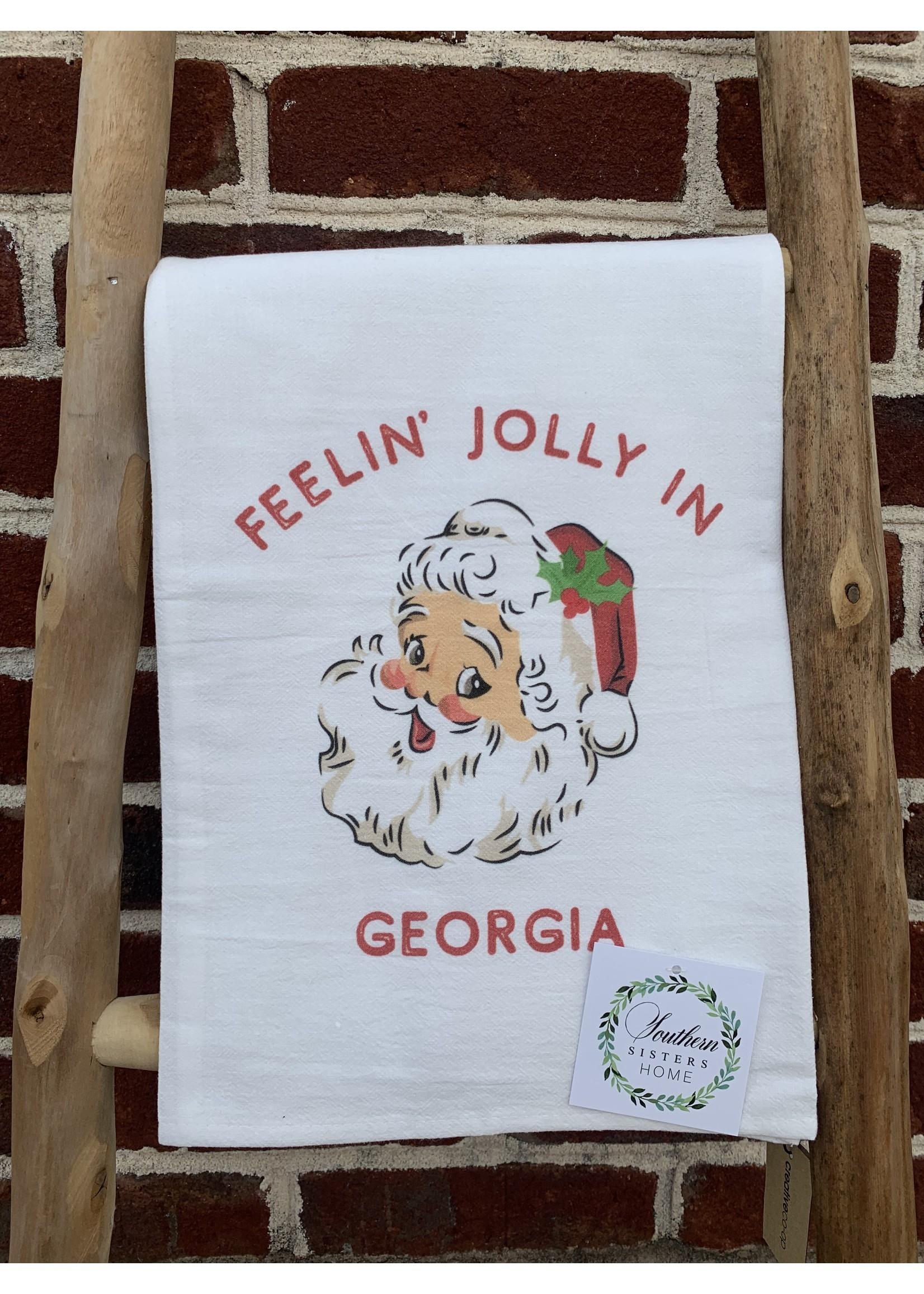 southern sisters Linen Towel - Feelin Jolly in GA
