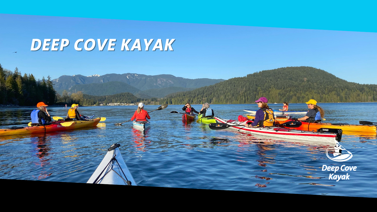 Deep Cove Kayak Waterfront location