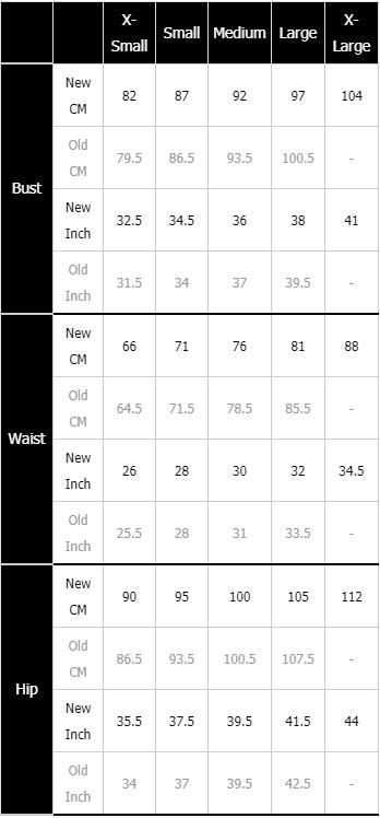 Mons Royale Women's Size Chart