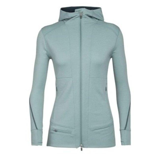 Icebreaker Women's Merino Quantum II Long Sleeve Zip Hood Jacket