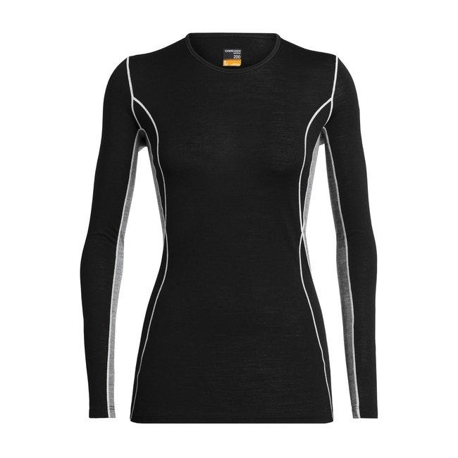 Icebreaker Women's Merino 200 Oasis Deluxe Long Sleeve Crewe Thermal Top