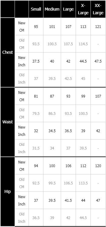 Mons Royale Men's Size Chart