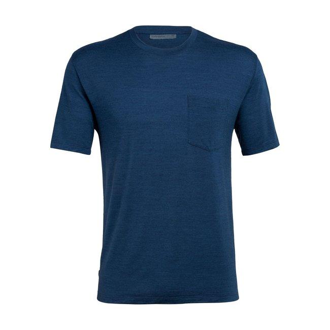 Icebreaker Men's Merino Nature Dye Drayden Short Sleeve Pocket Crewe T