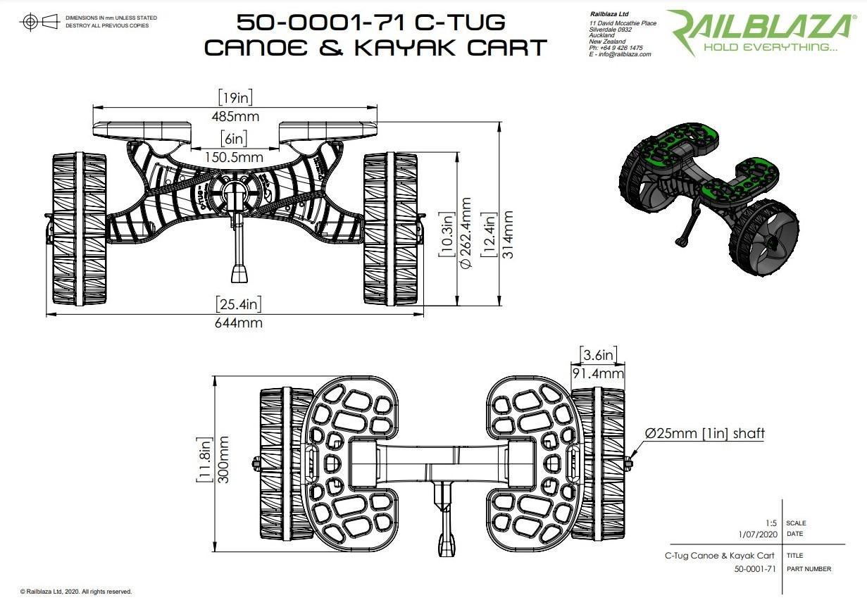 C-Tug Cart Dimensions